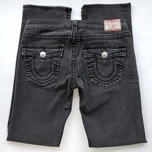 True Religion Billy Big T Grey Straight Leg Jeans